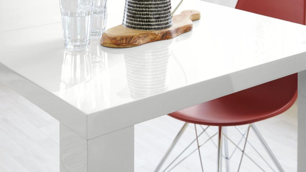Fern White Gloss Extending Dining Table | Danetti Uk Throughout Extending White Gloss Dining Tables (View 19 of 20)