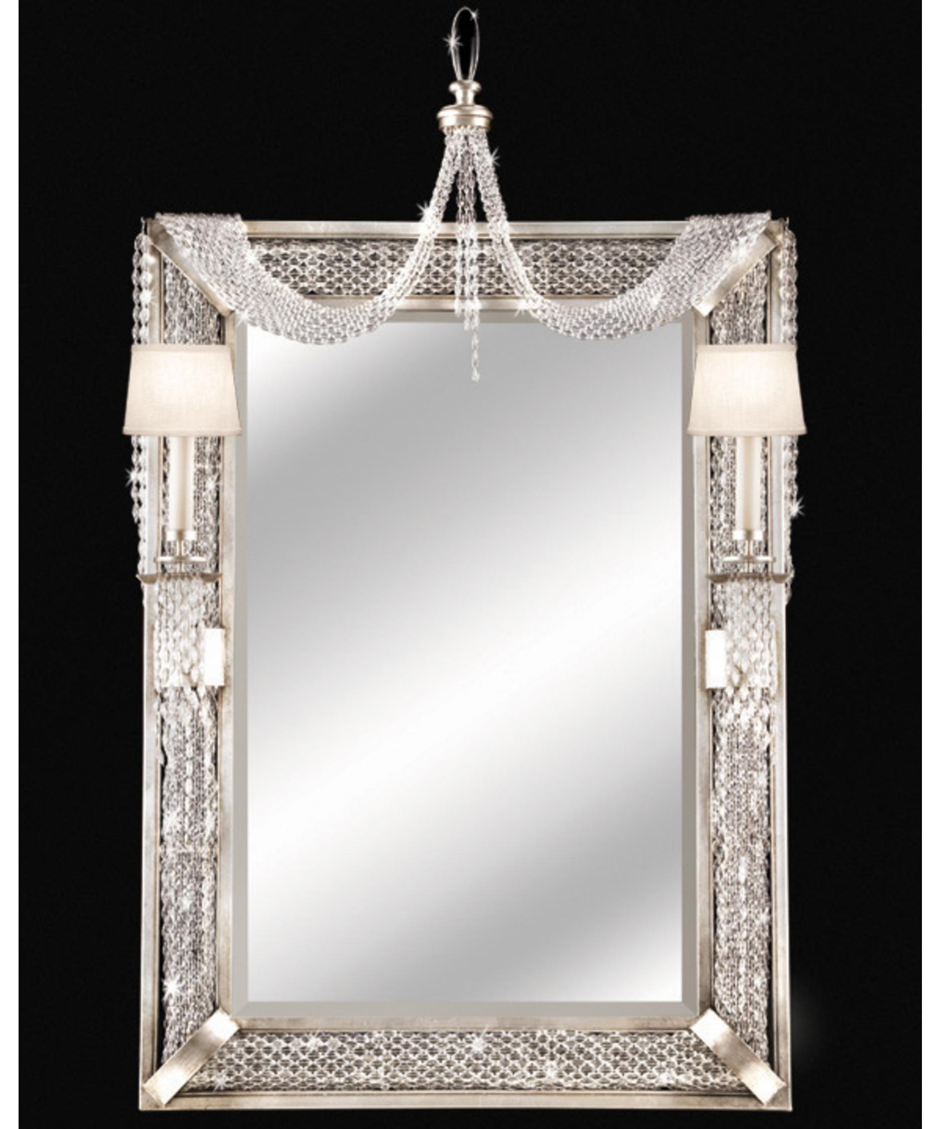 Fine Art Lamps 751255 Cascades 9 Inch Wall Mirror | Capitol In Mirror With Crystals (Image 10 of 20)