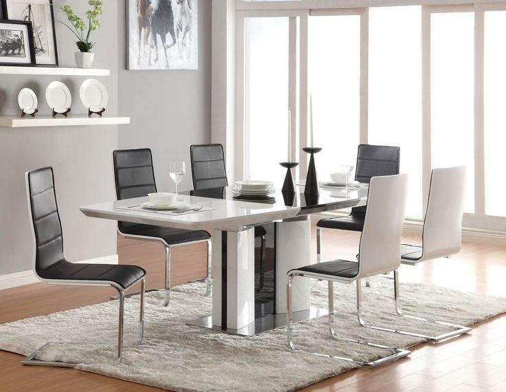 Fine White Contemporary Dining Room Sets High Gloss Extending Throughout Cheap Contemporary Dining Tables (Image 12 of 20)