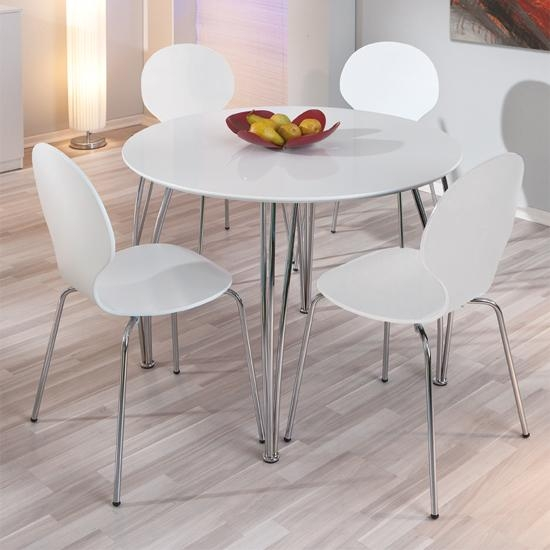 Fine White Round Dining Table Set 5 Piece U To Decorating With White Circle Dining Tables (Image 12 of 20)