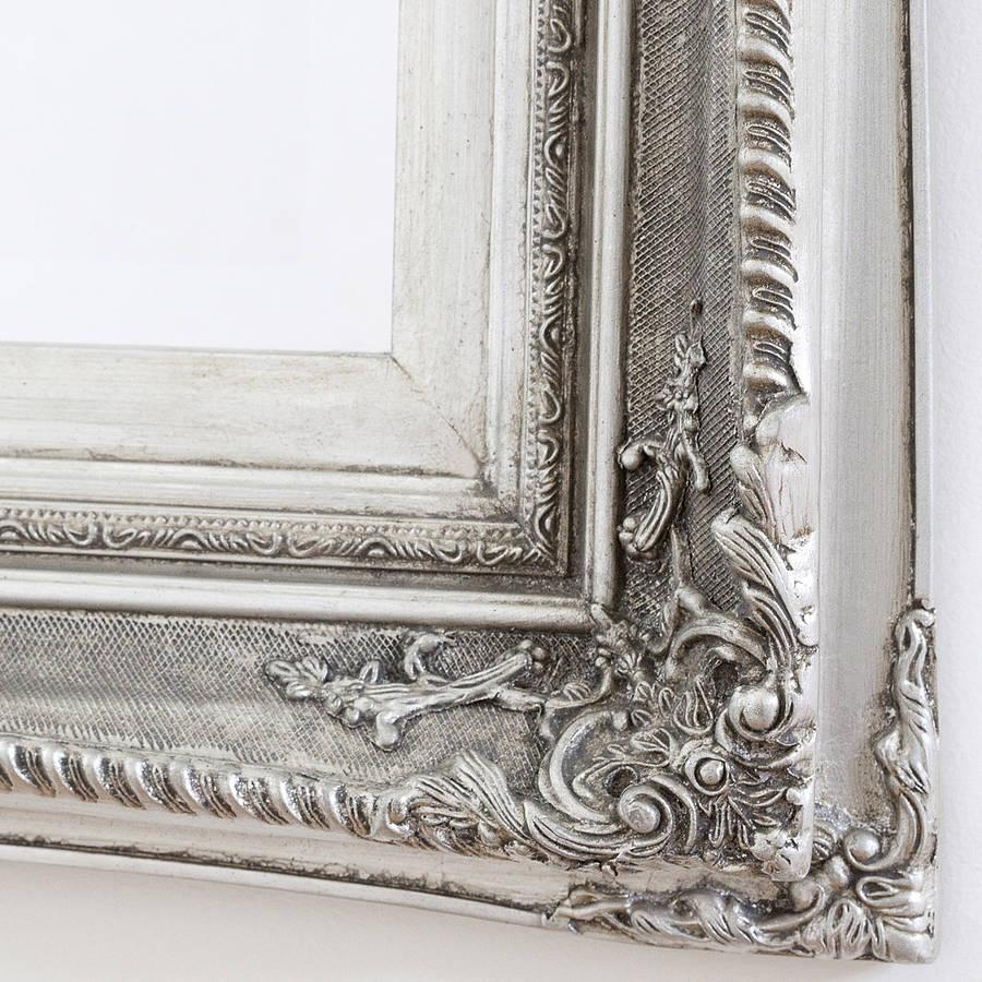 Finely Ornate Silver Mirrordecorative Mirrors Online Inside Vintage Silver Mirror (Image 9 of 20)