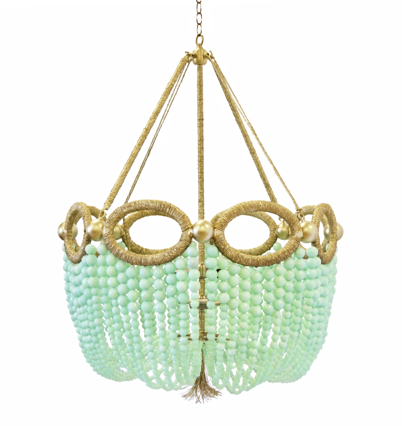 Fiona Ro Sham Beaux For Turquoise And Gold Chandeliers (View 4 of 13)