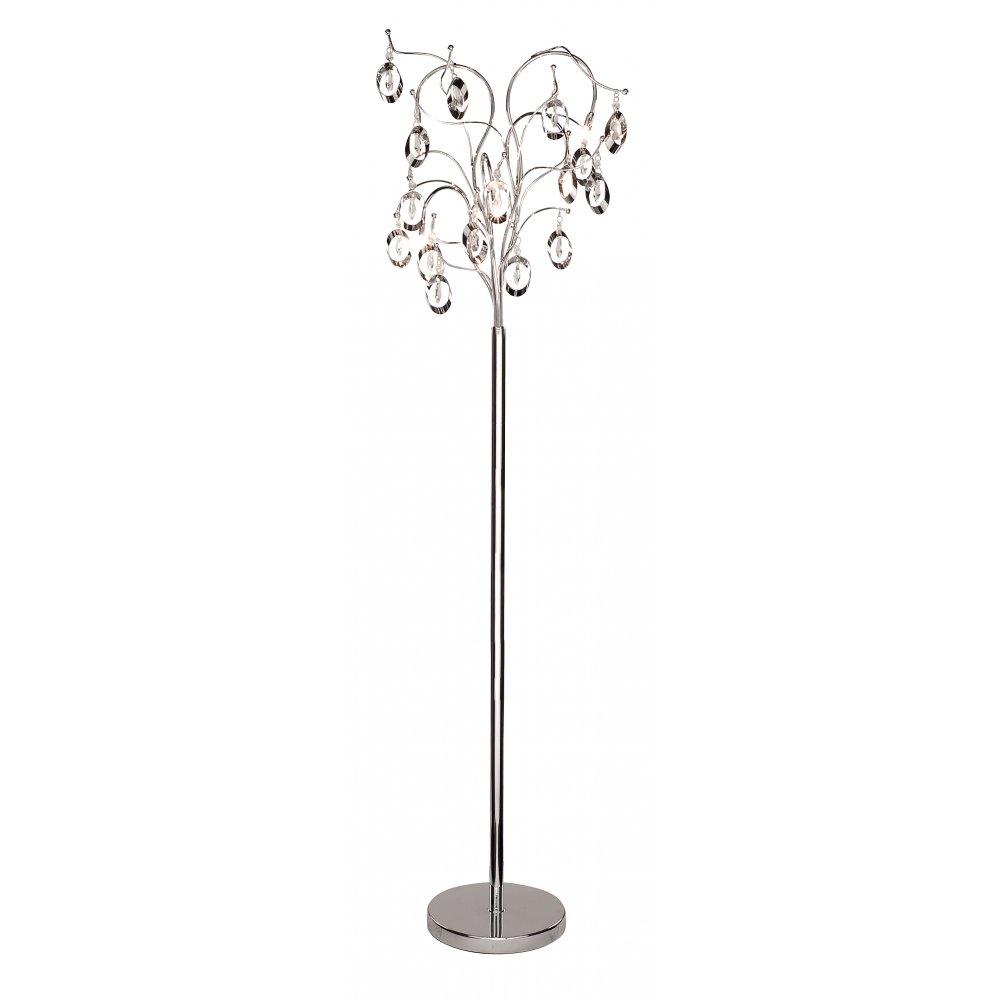 Floor Standing Chandelier Lamp Home Decoration Intended For Standing Chandelier Floor Lamps (Image 11 of 25)