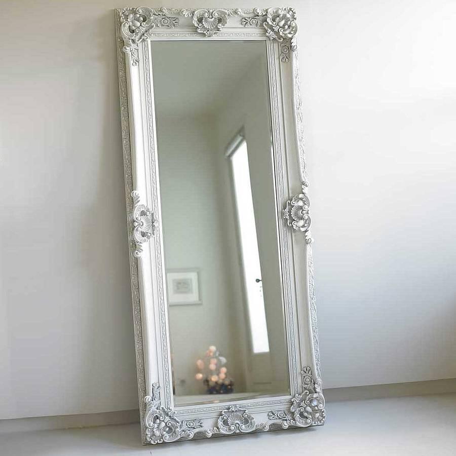 Flooring : Impressive Ornate Floor Mirror Photo Design Antique With Regard To Oversized Antique Mirror (Image 11 of 20)