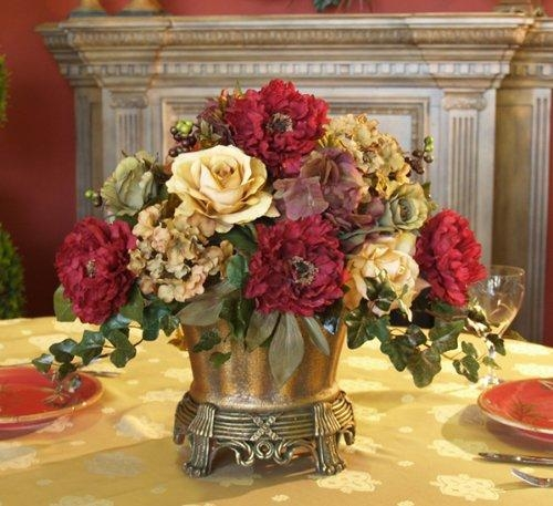 Floral Arrangements For Dining Room Table Prepossessing Home Ideas Regarding Artificial Floral Arrangements For Dining Tables (Image 15 of 20)