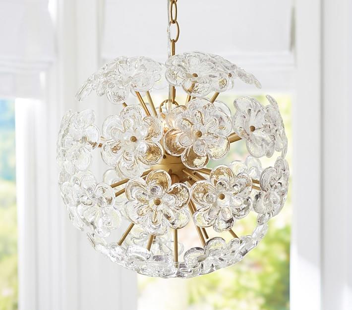 Flower Glass Chandelier Interiors Pinterest Glass Chandelier Intended For Chandeliers For Kids (Image 15 of 25)