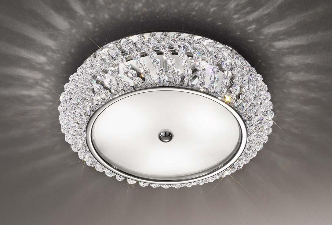 Flush Crystal Ceiling Light Best Ceiling 2017 Throughout Flush Chandelier Ceiling Lights (Image 17 of 25)