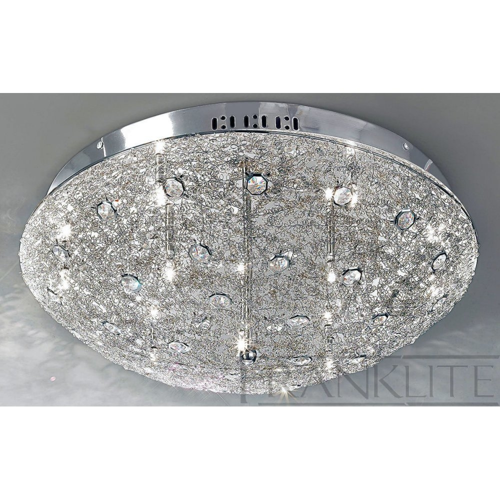 Flush Crystal Ceiling Lights Winda 7 Furniture Pertaining To Flush Chandelier Ceiling Lights (Image 18 of 25)