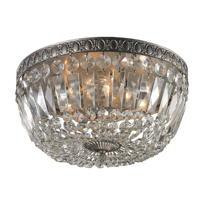 Flush Mount Ceiling Light Fixtures Crystal Within Wall Mount Crystal Chandeliers (View 4 of 25)