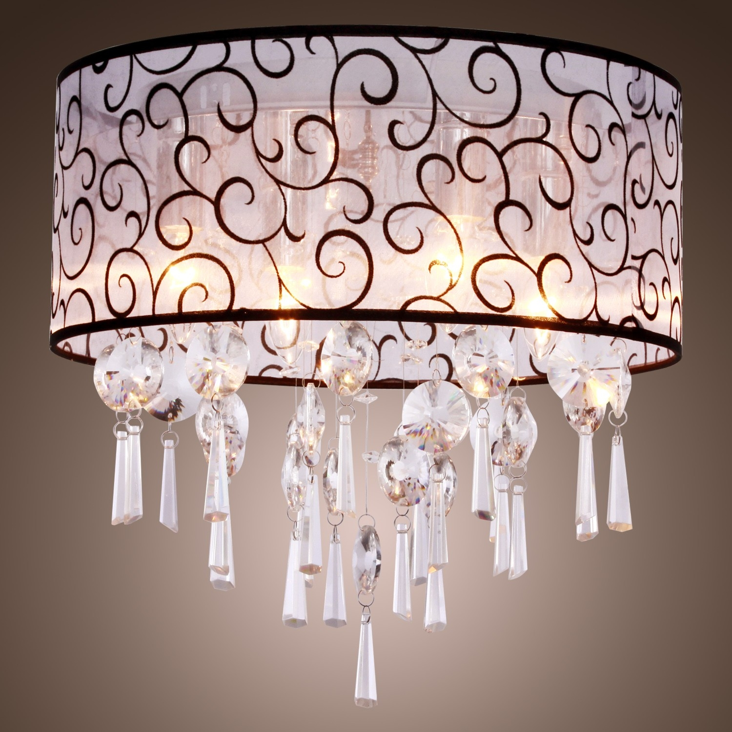 Flush Mount Crystal Chandelier Adele Flush Mount 33 Light Modern With Regard To 4 Light Crystal Chandeliers (View 16 of 25)