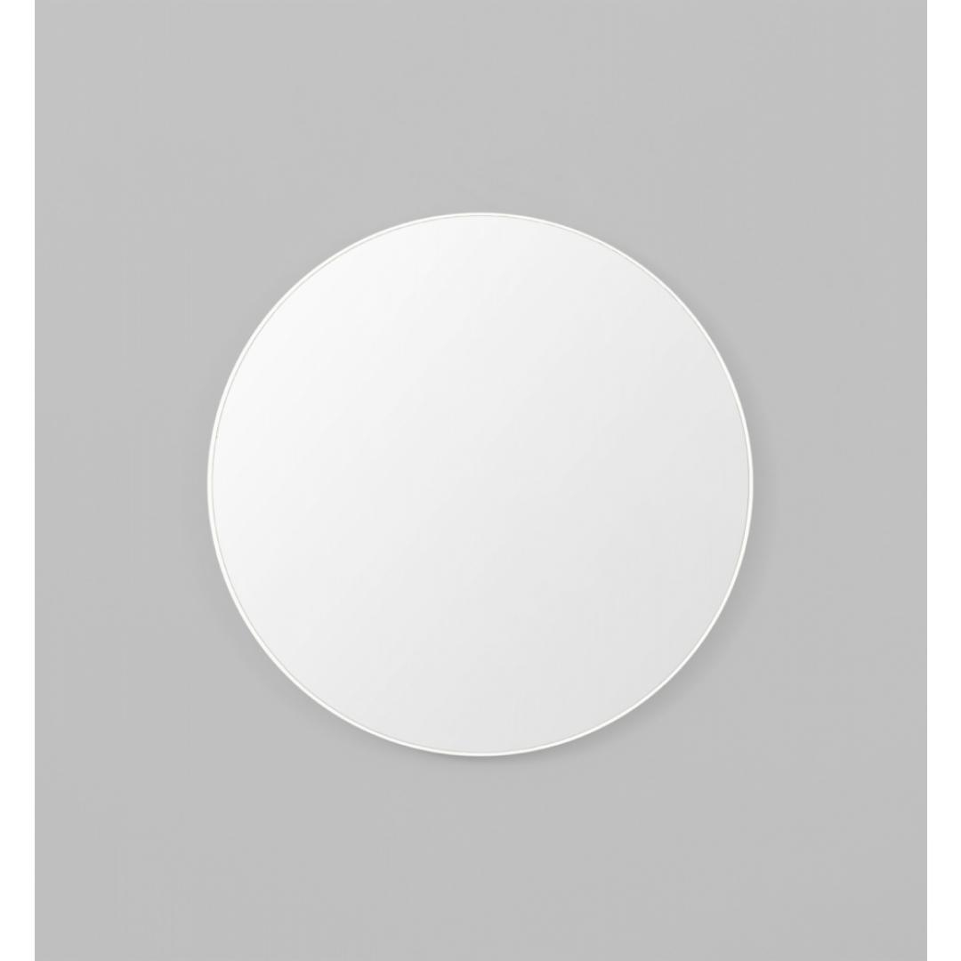 Flynn 100Cm Round Mirror – White | Interior Secrets For Round White Mirror (Image 4 of 20)