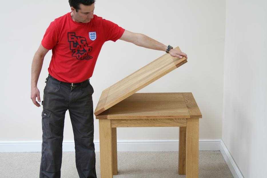 Folding Console Table Dining Inside Flip Top Oak Dining Tables (Image 10 of 20)