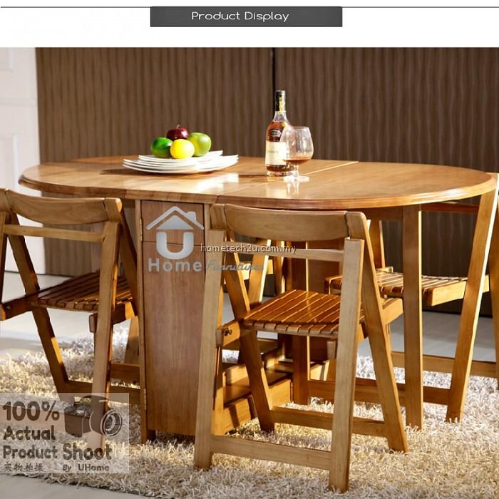 Folding Dining Table And Chair Set Within Folding Dining Table And Chairs Sets (View 18 of 20)