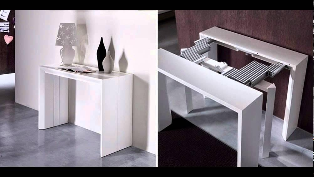 Folding Dining Table And Chairs – Youtube Intended For Foldaway Dining Tables (Image 14 of 20)