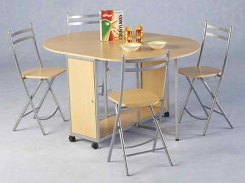 Folding Dining Table Sets In Folding Dining Table And Chairs Sets (View 15 of 20)