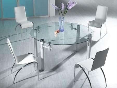 Folding Glass Dining Table For Glass Folding Dining Tables (Image 10 of 20)