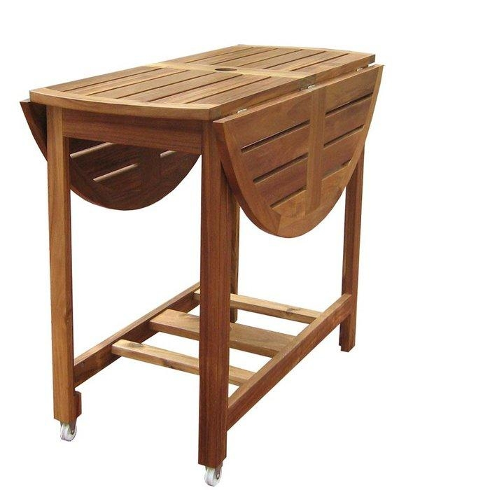 Folding Kitchen Table. Foldaway Butcher Block Table (Image 13 of 20)