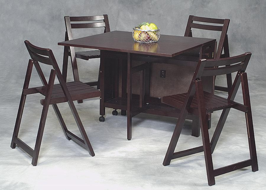 Folding Kitchen Table. Foldaway Butcher Block Table (Image 16 of 20)