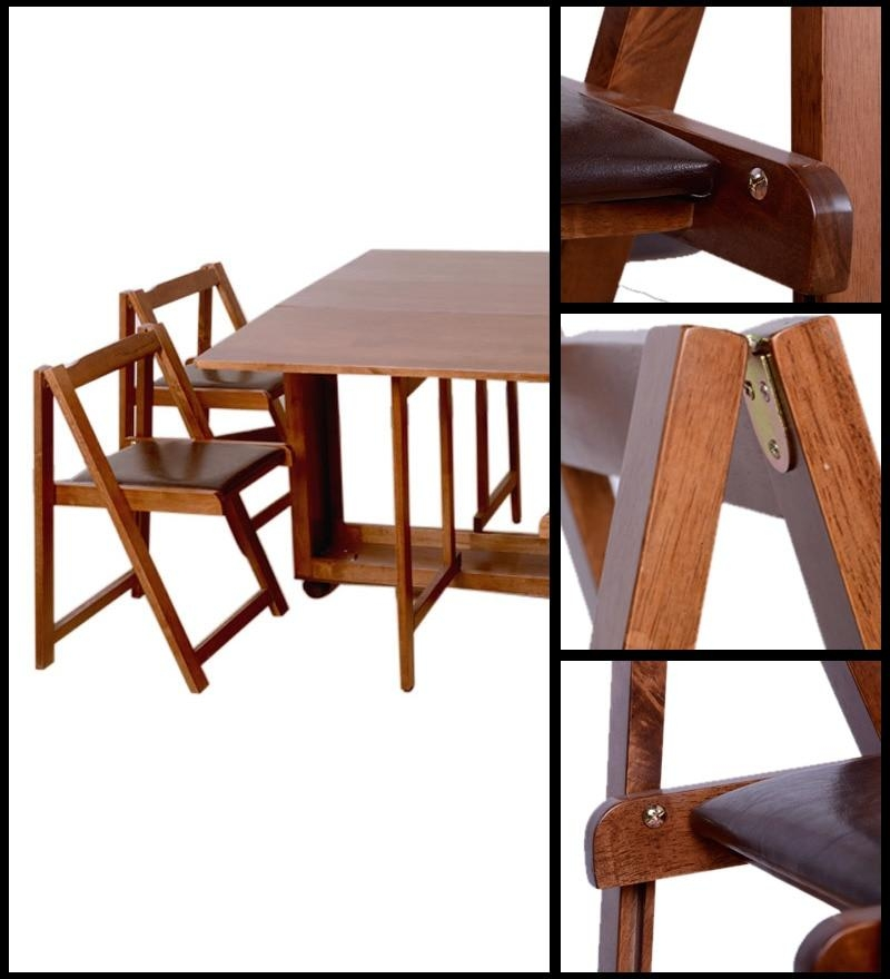 Folding Table With Chair Storage Small Foldable Dining Table Inside Compact Folding Dining Tables And Chairs (Image 16 of 20)