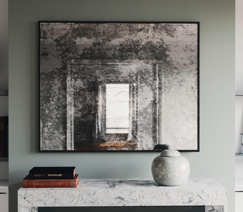 Framed Antiqued Mirror (Image 13 of 20)