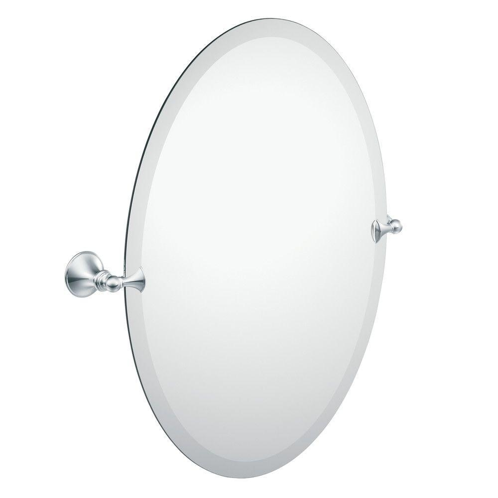 Frameless – Bathroom Mirrors – Bath – The Home Depot For Beveled Edge Oval Mirror (View 7 of 20)