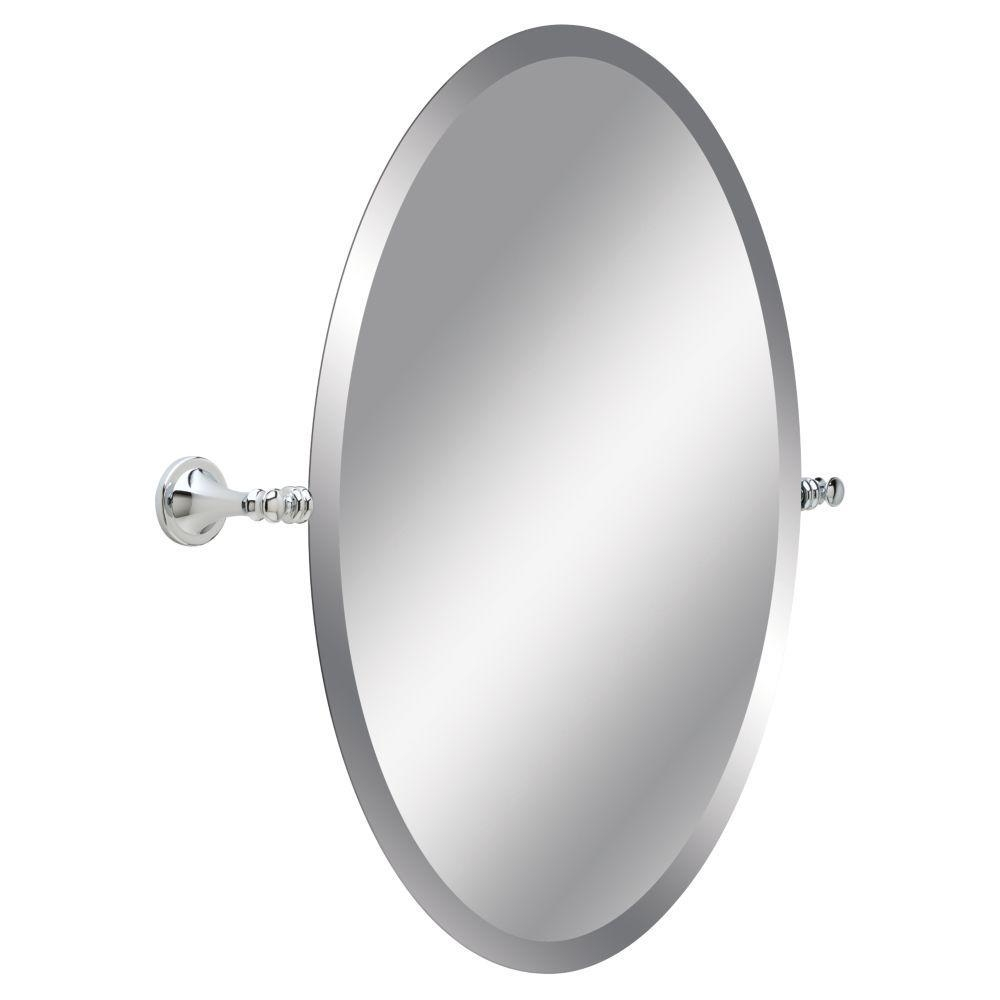 Frameless – Bathroom Mirrors – Bath – The Home Depot For Bevelled Oval Mirror (Image 5 of 20)