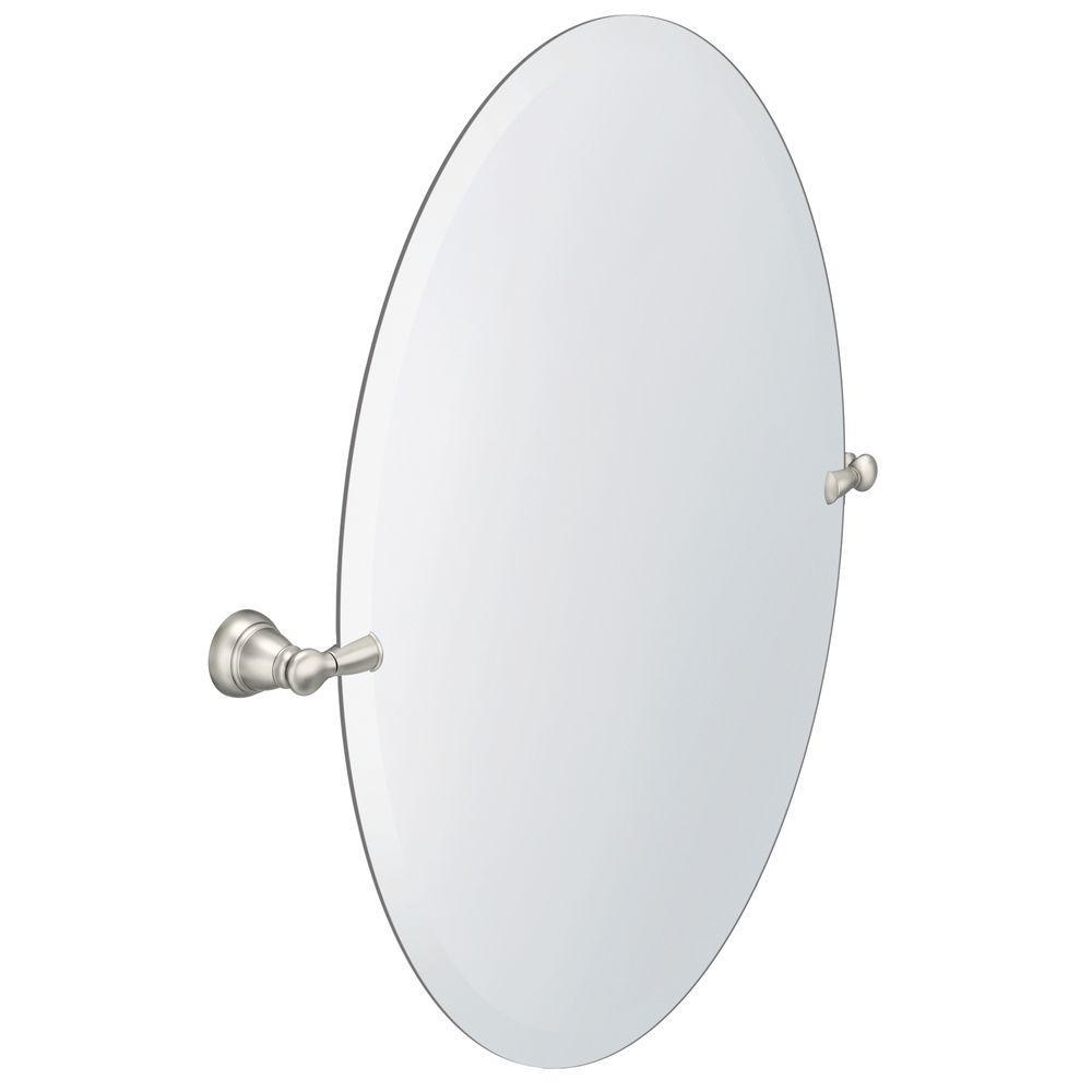 Frameless – Bathroom Mirrors – Bath – The Home Depot Pertaining To Beveled Edge Oval Mirror (View 18 of 20)
