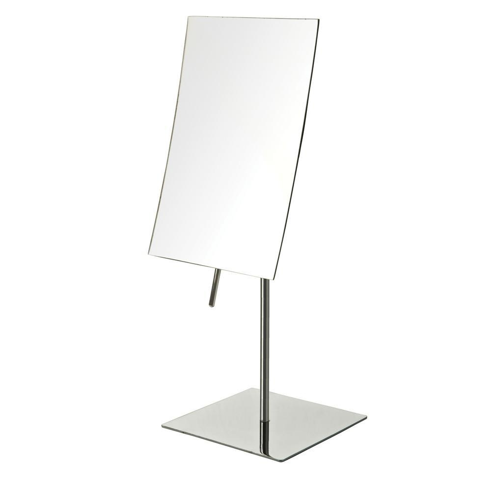 Frameless – Magnifying Mirrors – Bathroom Mirrors – The Home Depot With Regard To Free Standing Table Mirror (Image 2 of 20)