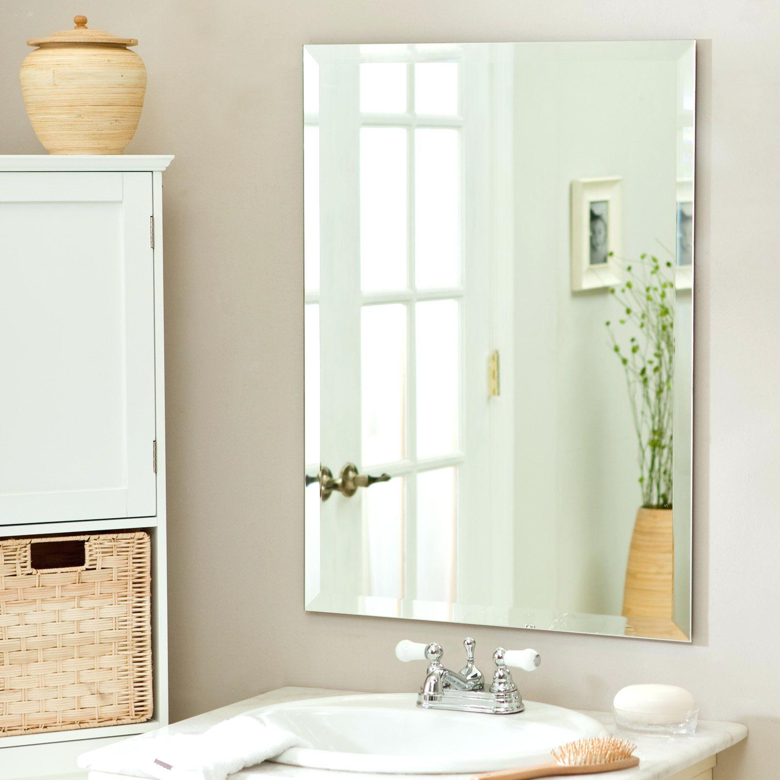 Frameless Wall Mirror For Bathroom Full Length – Shopwiz Throughout Wall Mirror Full Length Frameless (Image 4 of 20)
