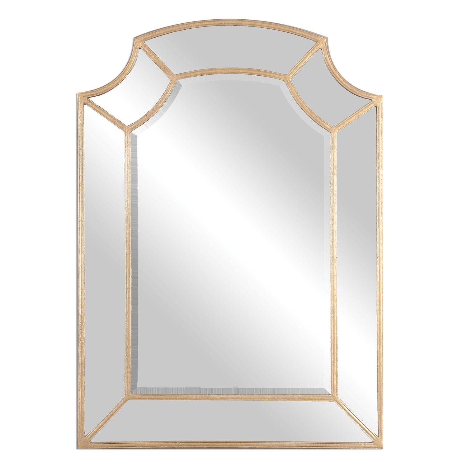 Francoli Gold Arch Mirror Uttermost Wall Mirror Mirrors Home Decor With Gold Arch Mirror (Image 4 of 20)
