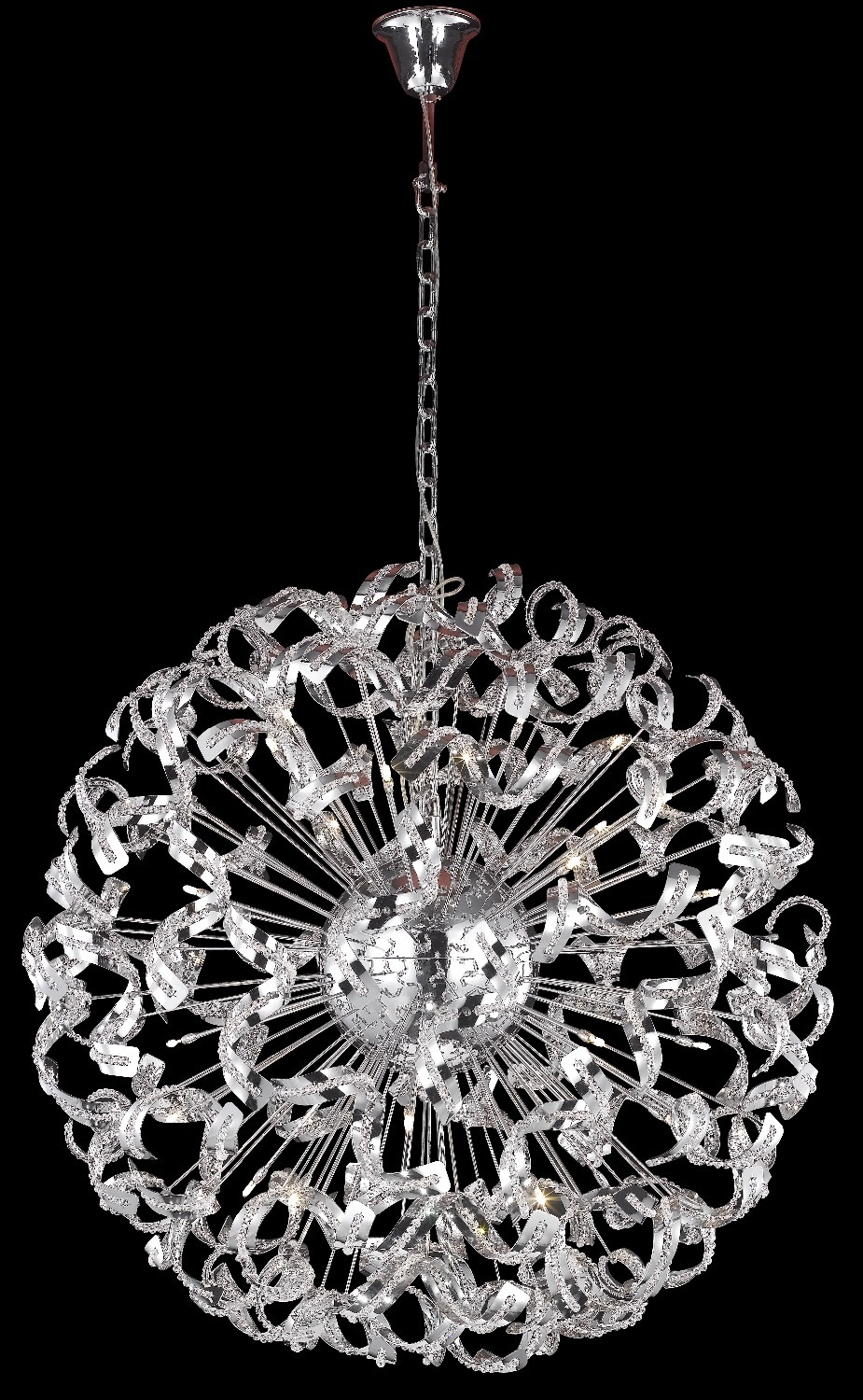 Free Shipping New Modern Spiral Design Chandelier Crystal Lights Pertaining To Chrome And Crystal Chandeliers (View 15 of 25)