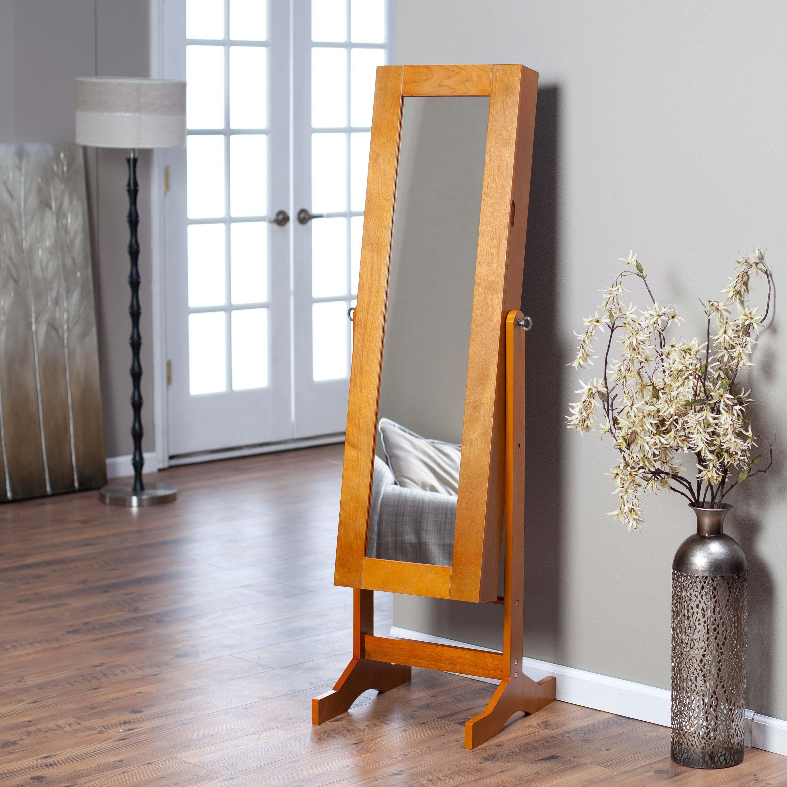 Free Standing Jewellery Cabinet Uk – Monsterlune Inside Free Standing Mirror With Drawer (Image 11 of 20)
