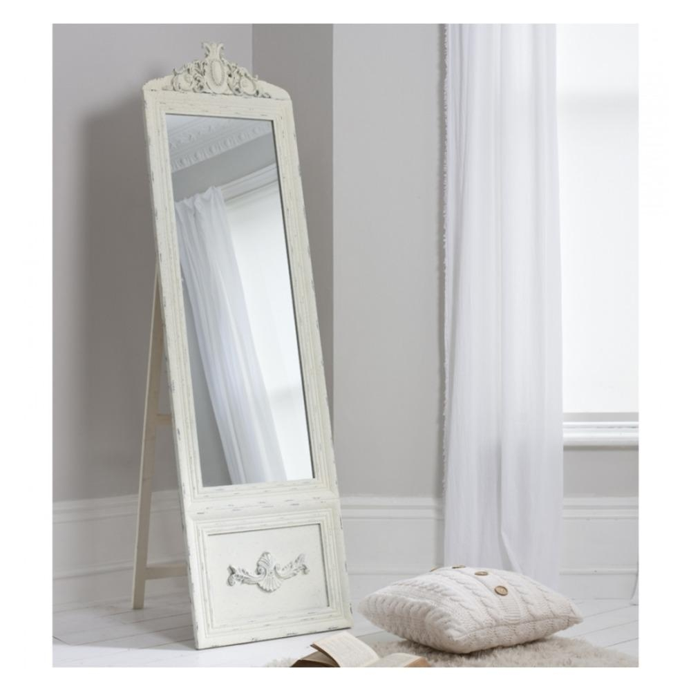 Free Standing Mirror: Belvedere Cheval Mirror|Select Mirrors Throughout Cream Free Standing Mirror (Image 7 of 20)