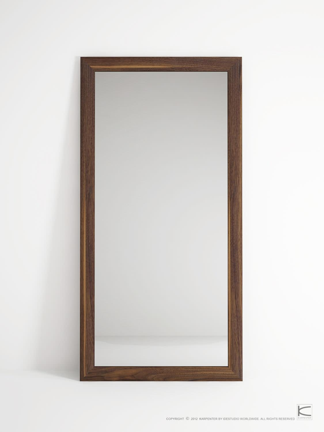 Free Standing Mirror / Contemporary / Rectangular / Oak – Vi40 Regarding Free Standing Oak Mirror (Image 16 of 20)