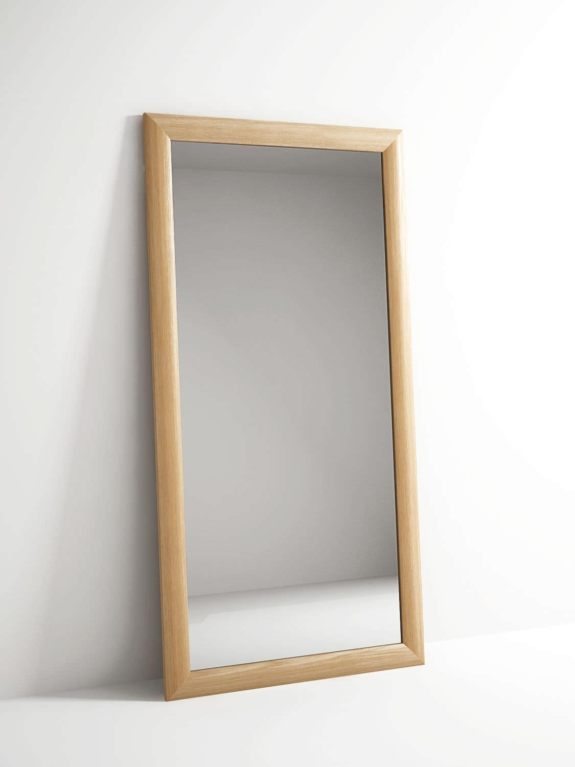Free Standing Mirror / Contemporary / Rectangular / Oak – Vi40 Throughout Free Standing Oak Mirror (Image 17 of 20)