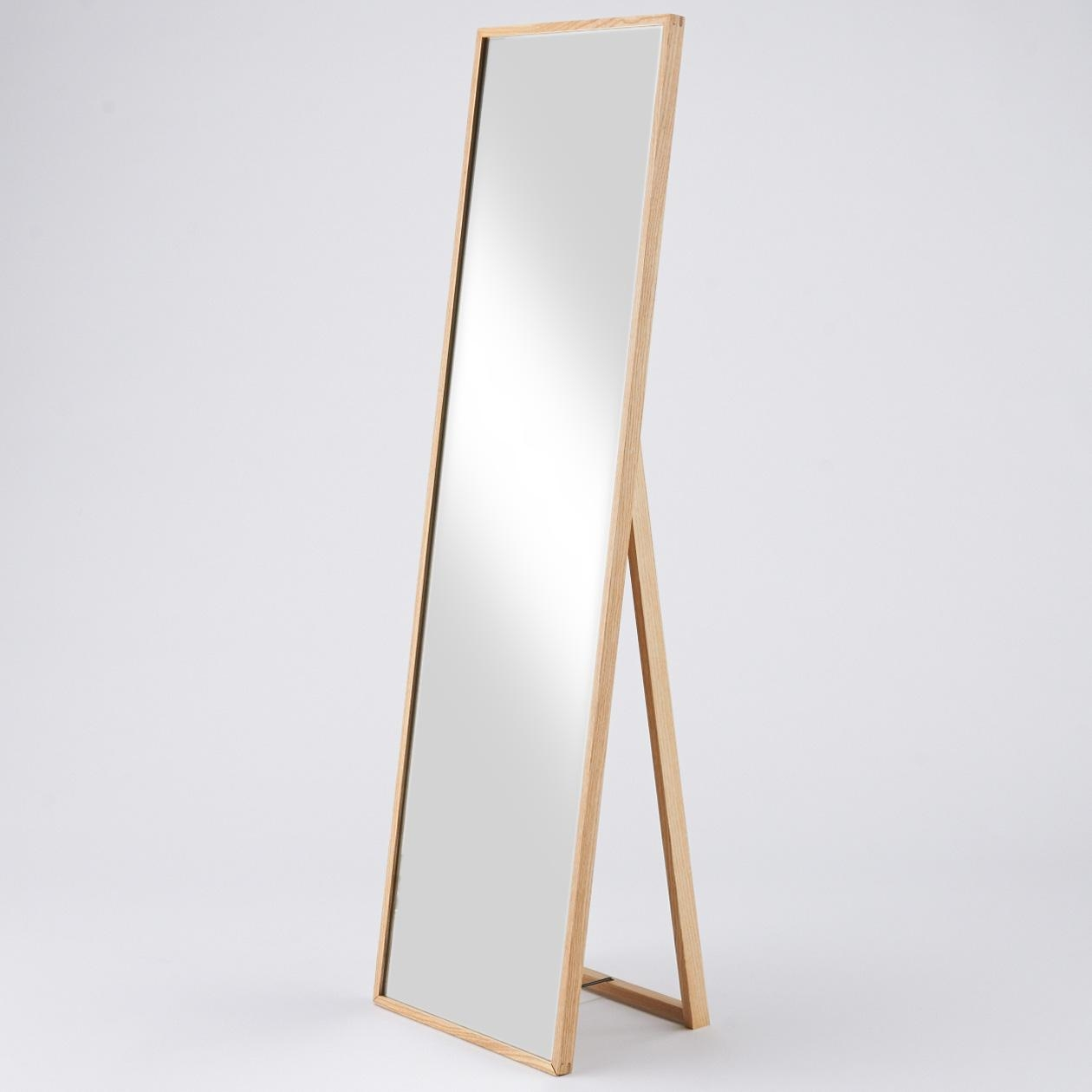 Free Standing Mirror Full Length 2 Fascinating Ideas On Mirror A With Regard To Free Standing Oak Mirror (Image 12 of 20)