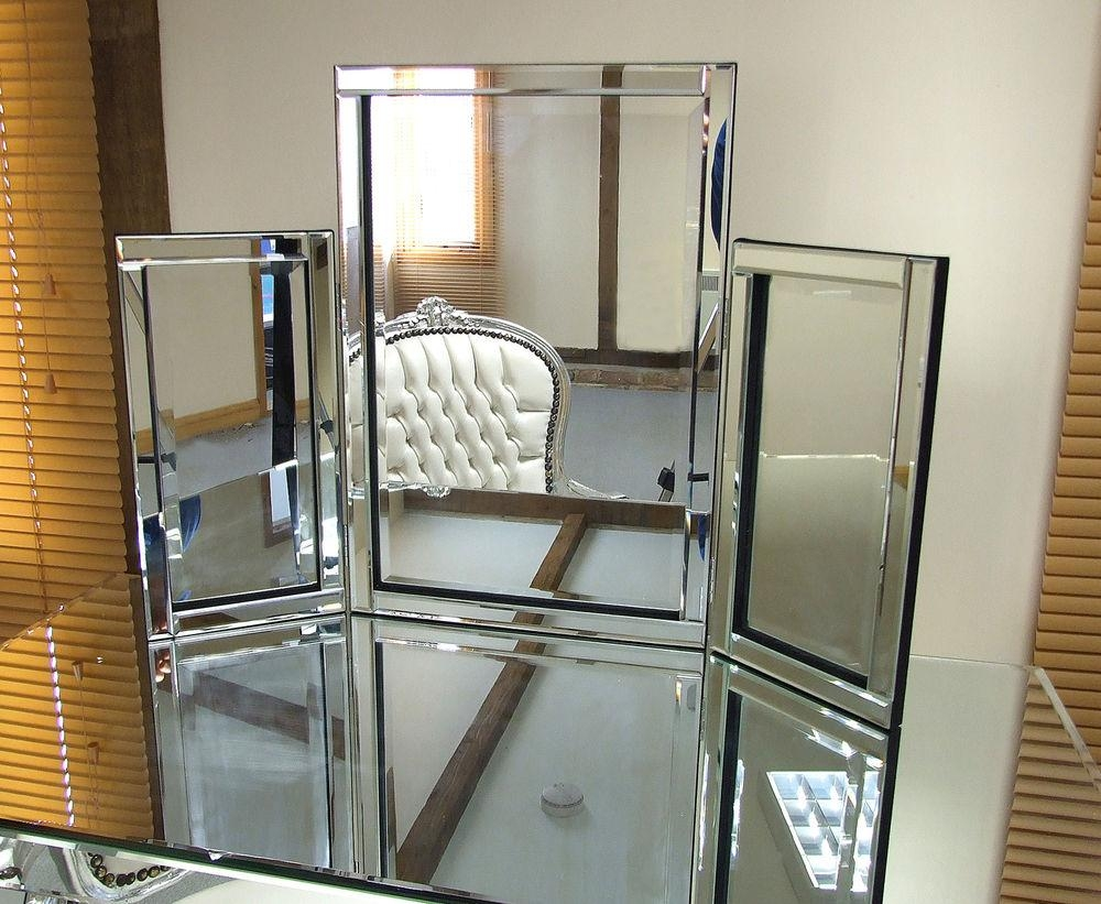 Free Standing Tri Fold Mirror – Harpsounds (Image 12 of 20)
