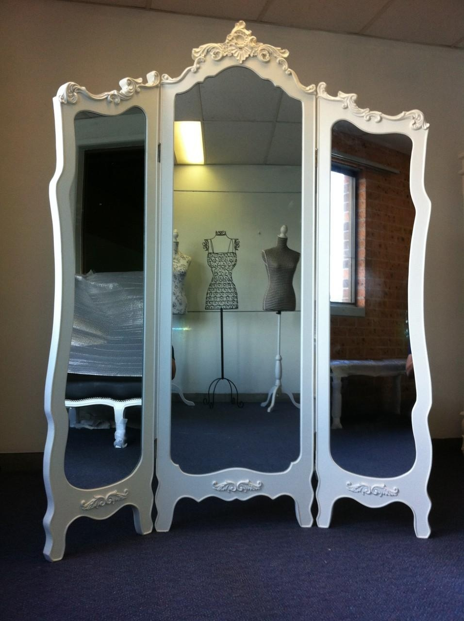 White Full Length Wall Mirror