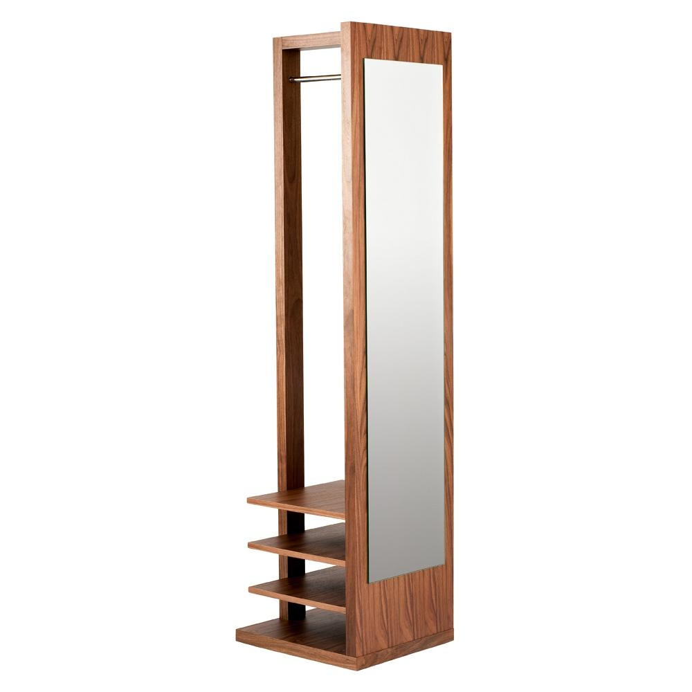 Freestanding Coat Stand And Mirror – Dwell Intended For Free Stand Mirror (Image 8 of 20)
