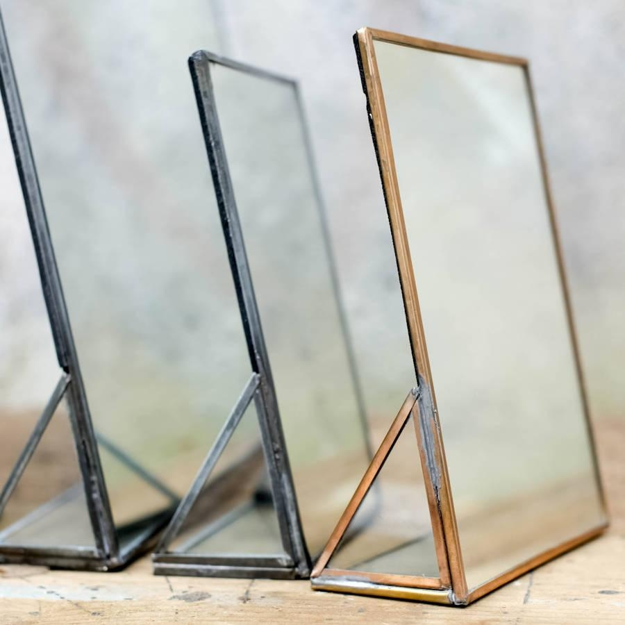 Freestanding Kiko Brass Mirrornkuku | Heavenlyhomesandgardens With Regard To Small Free Standing Mirror (View 10 of 20)