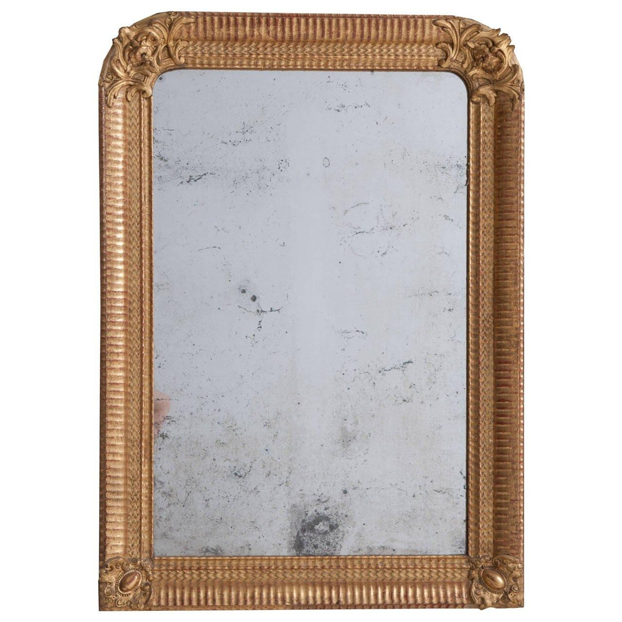 French 19Th Century Louis Philippe Gold Gilt Mirror For Sale At For Gold Gilt Mirror (Image 5 of 20)