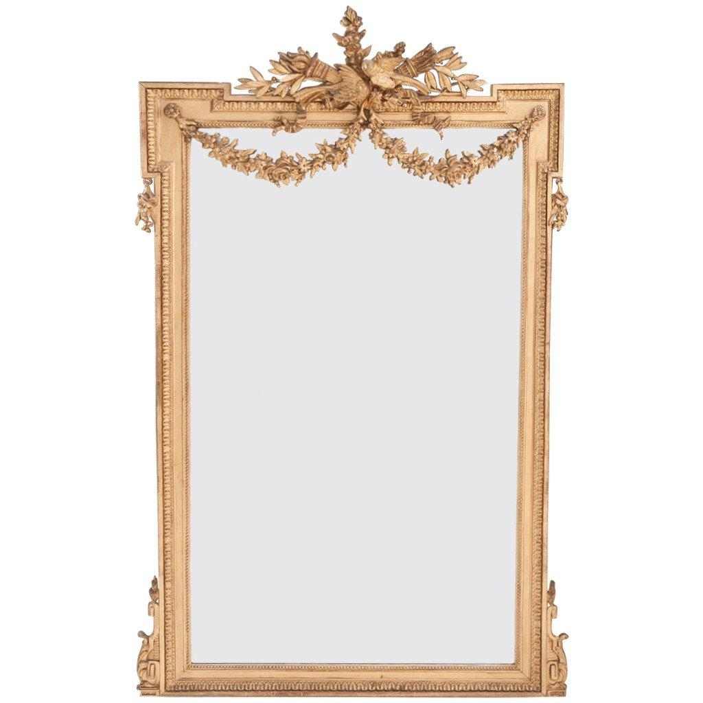 French 19Th Century Louis Xvi Gold Gilt Mirror At 1Stdibs In Gold Gilt Mirror (Image 6 of 20)