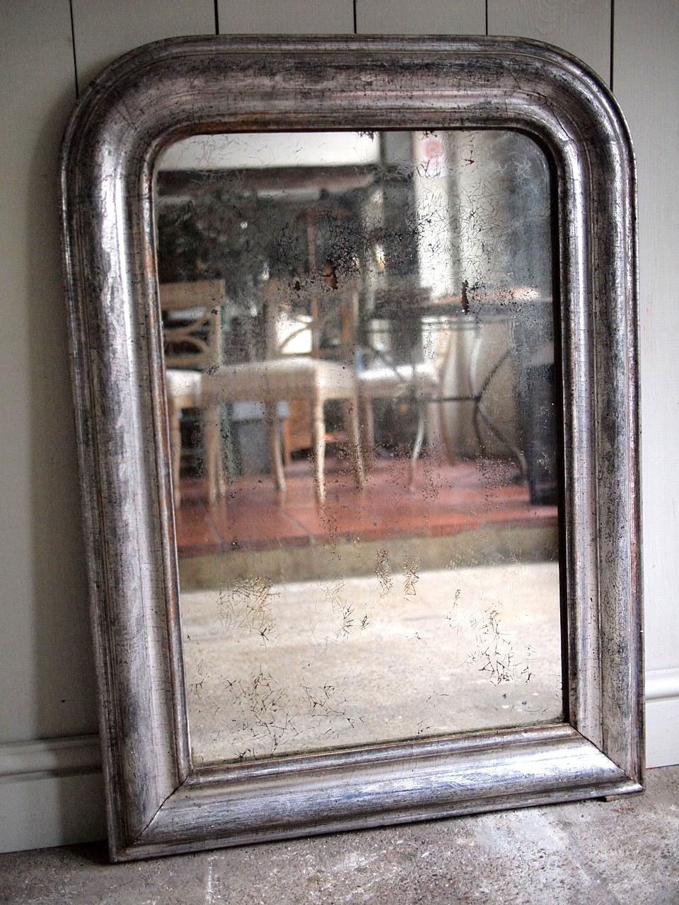 French Antique Silver Mirror › Puckhaber Decorative Antiques Inside Silver Antique Mirror (Image 12 of 20)