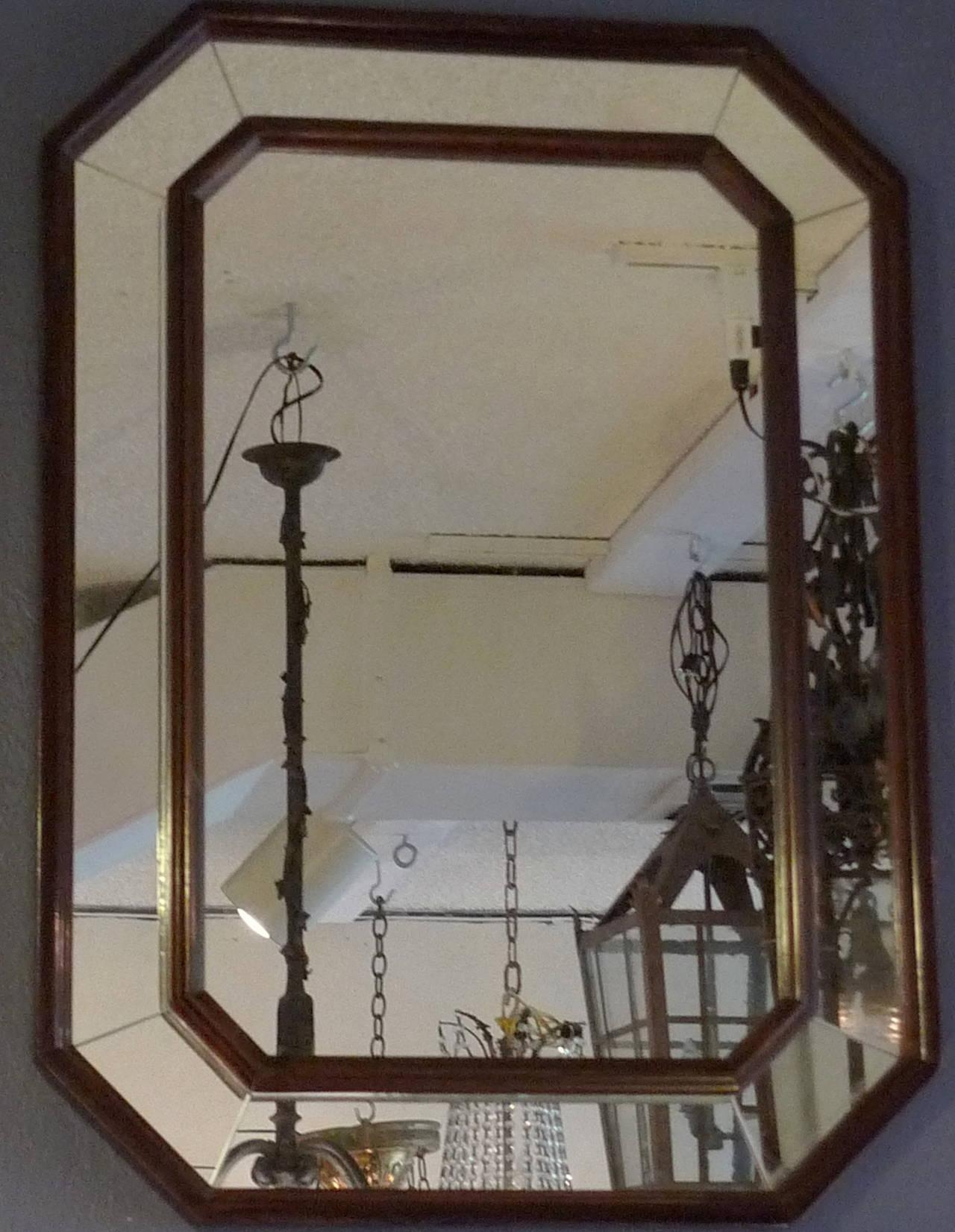 French Art Deco Wood Frame Mirror With Original Glass At 1Stdibs With Art Deco Mirrors (Image 14 of 20)