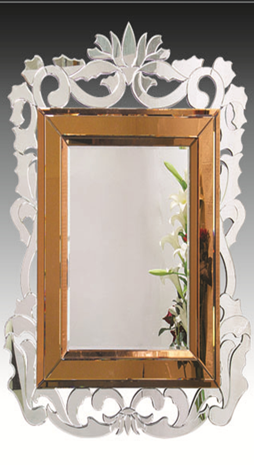 French Baroque Style Bronze Venetian Wall Mirror Jh004 With Regard To Baroque Wall Mirror (View 20 of 20)