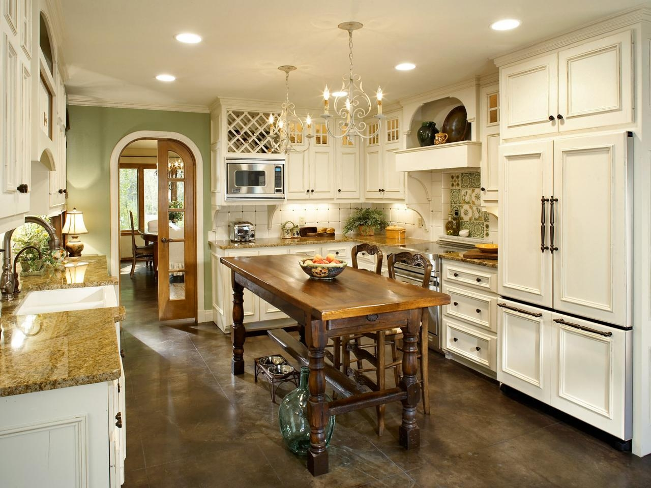 French Country Kitchen Makeover Bonnie Pressley Hgtv Within French Country Chandeliers For Kitchen (View 1 of 25)