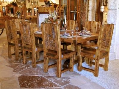 French Country Round Dining Table And Chairs Inside Country Dining Tables (Image 17 of 20)
