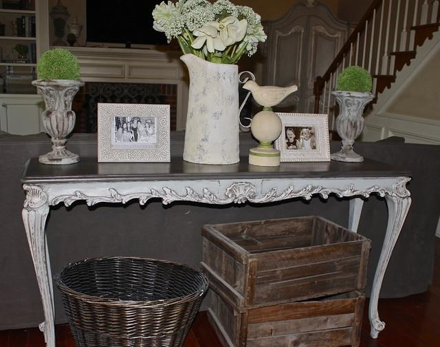 French Country Sofa Table – Eclectic – Atlanta Within Country Sofa Tables (Image 17 of 20)