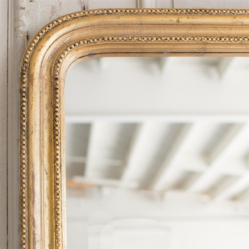 French Country Style Vintage Style Mirror: 1940 | Kathy Kuo Home For Vintage Style Mirrors (Image 11 of 20)