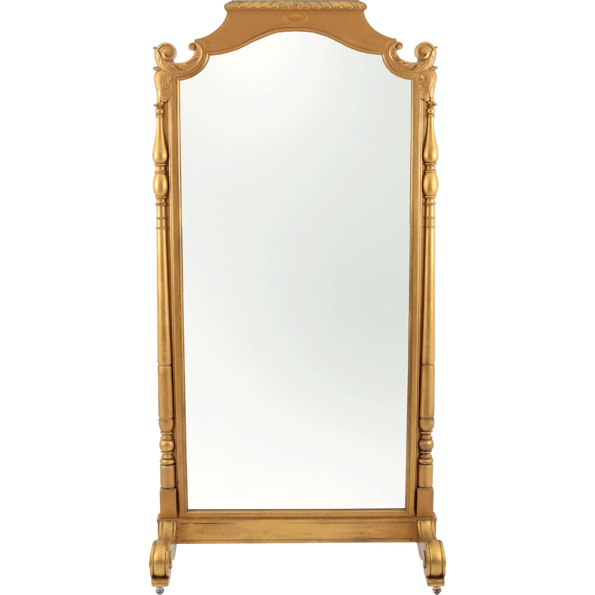 French Gilt Double Sided Floor Mirror From Solvangantiques On Ruby With Regard To French Floor Mirror (Image 13 of 20)